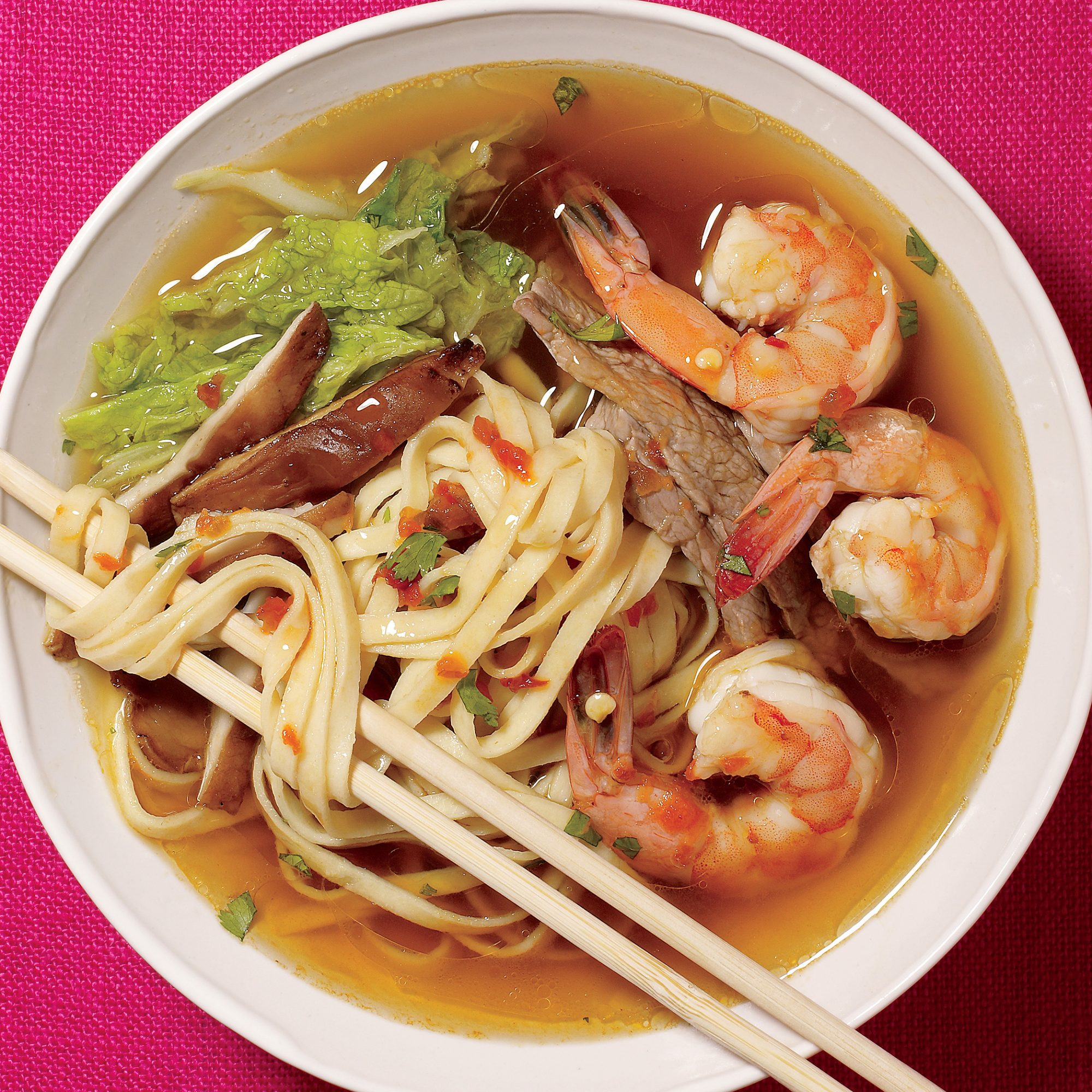 spicy hot pot with noodles