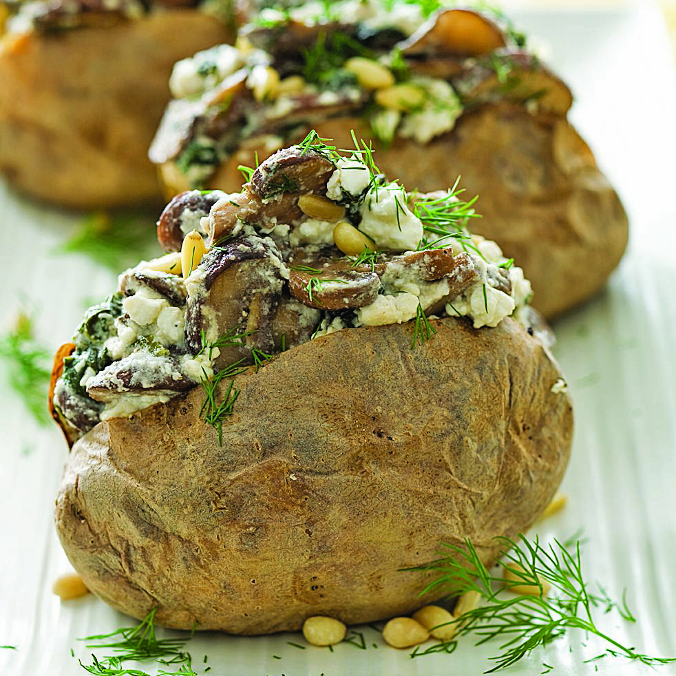 spinach and feta potatoes