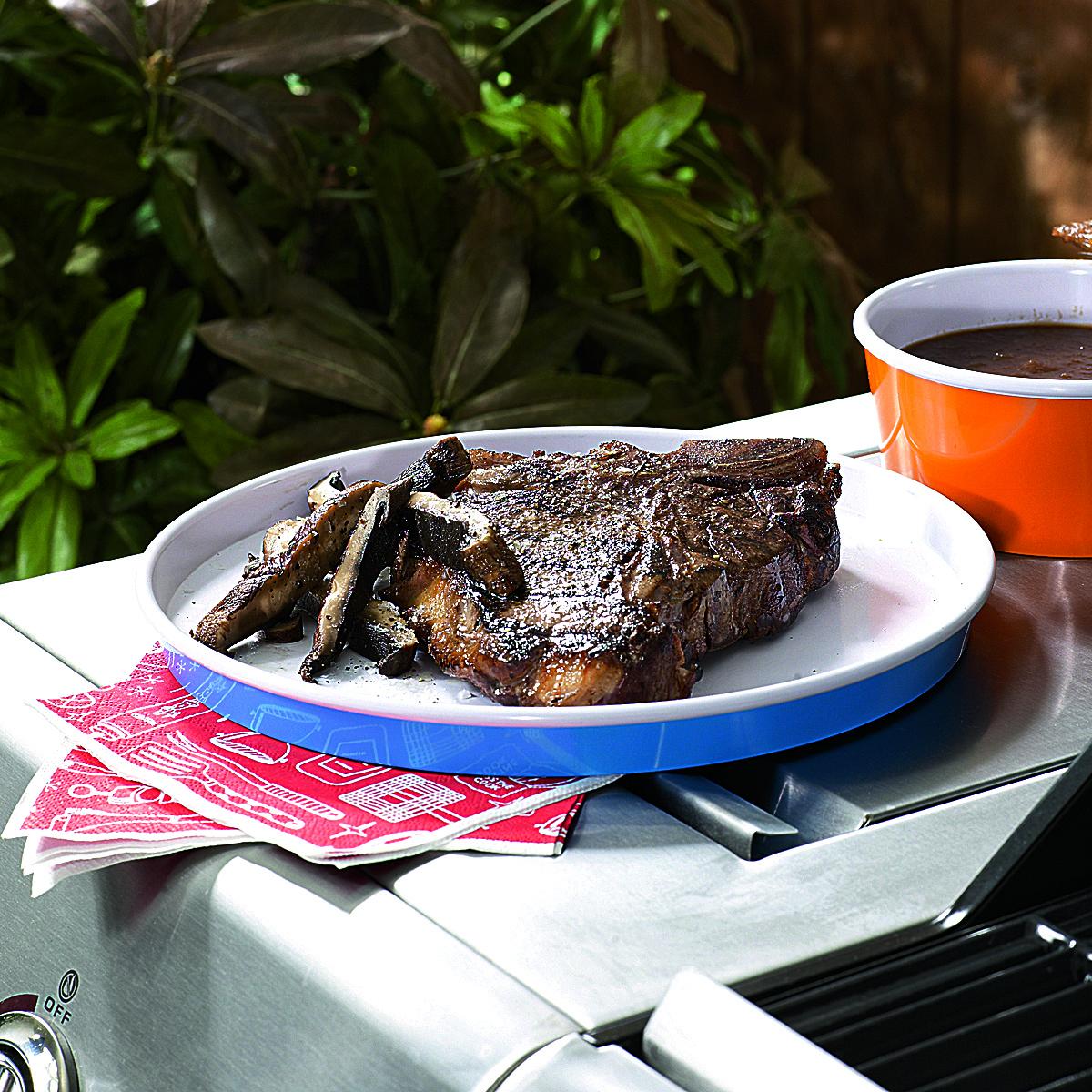 Steak and Portobellos with Steak Sauce