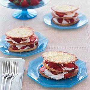 Strawberries and Cream Napoleons