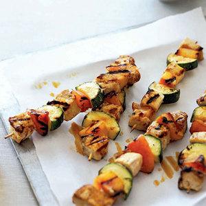 Swordfish-Zucchini Kebabs
