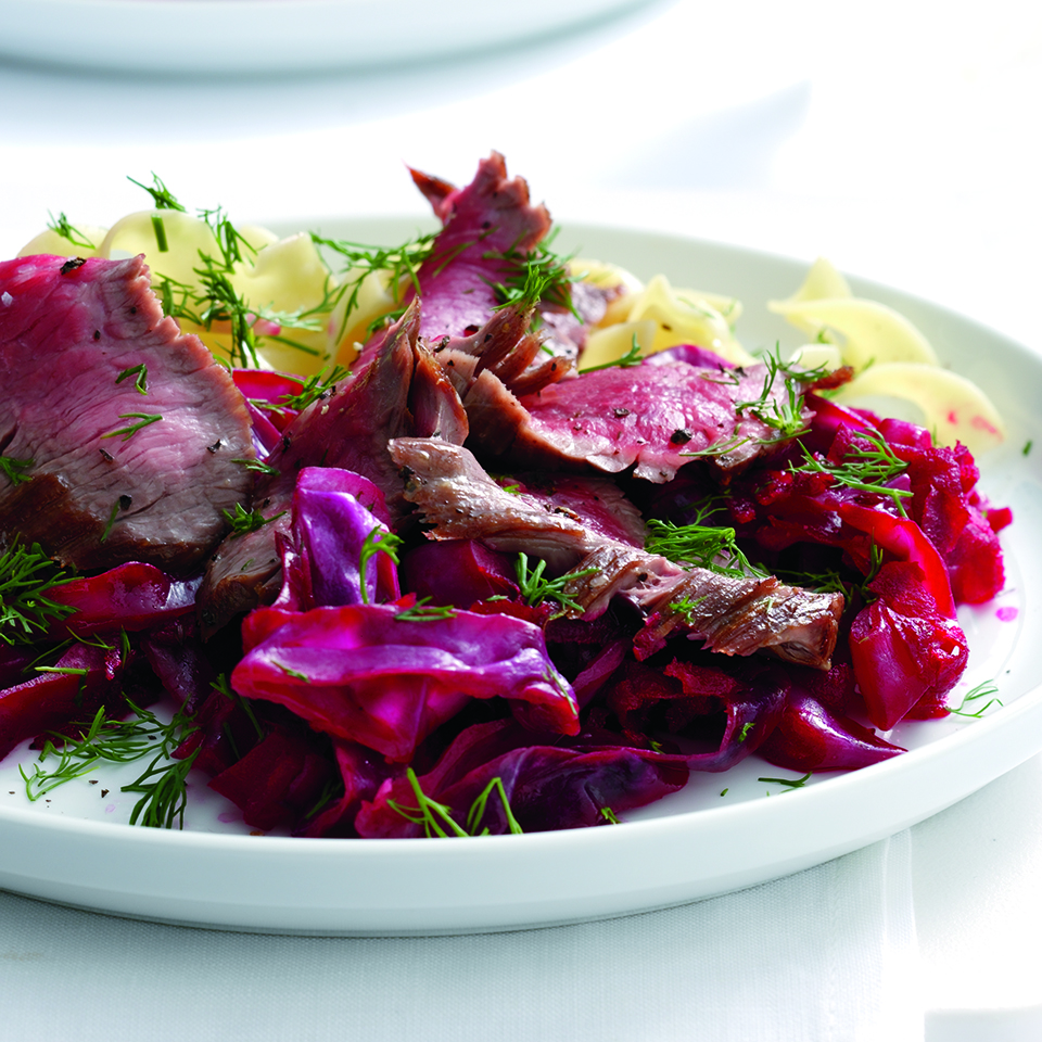 Tangy Red Cabbage and Beets with Beef