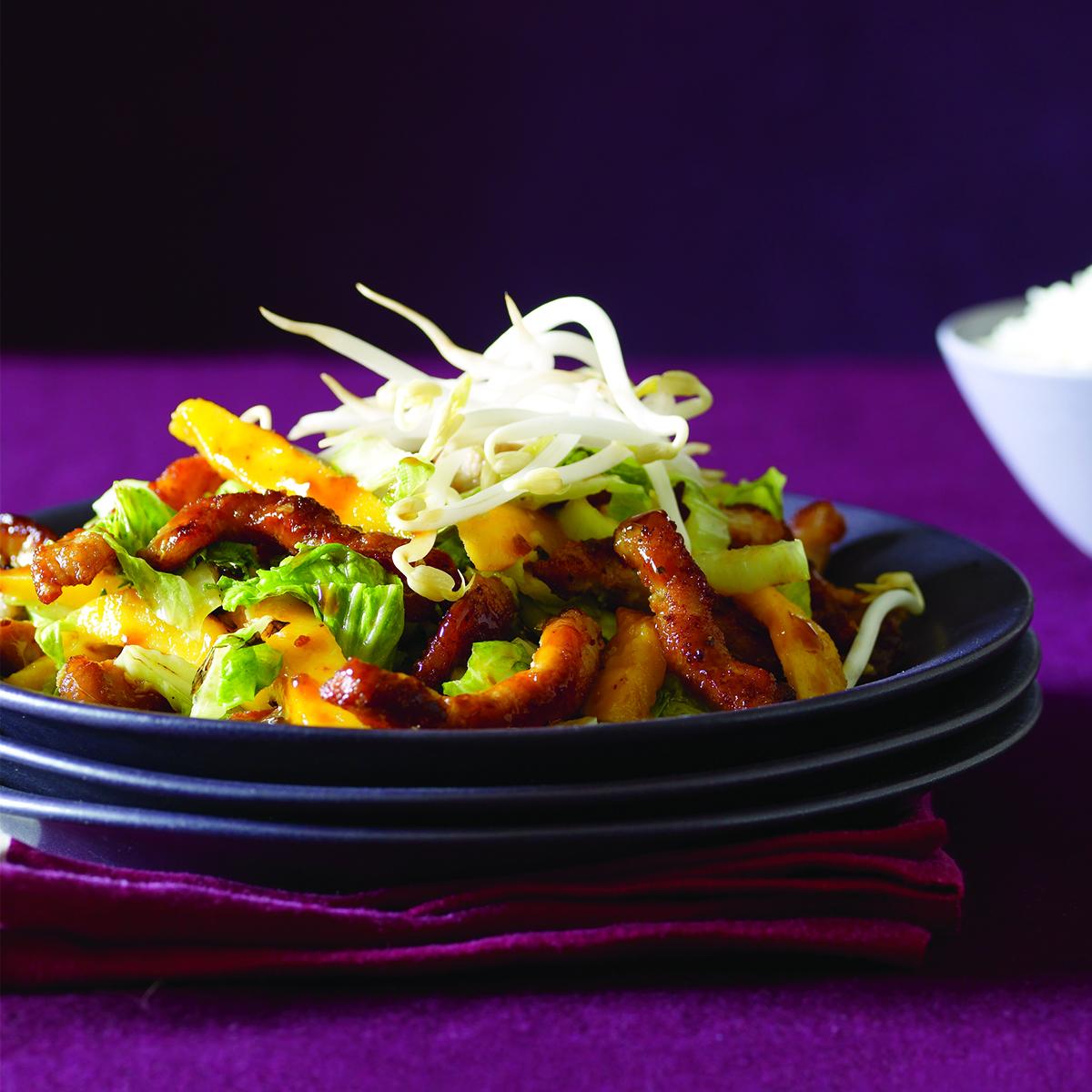 Teriyaki Pork-and-Mango Stir-Fry