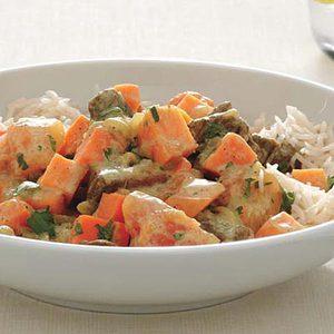 Tropical Sweet Potato Rice and Lamb