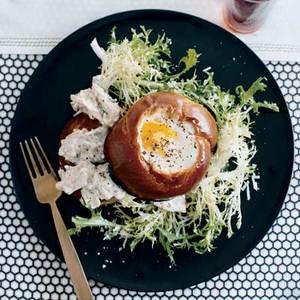 Tuna Salad Specials with Egg-in-the-Hole Brioche