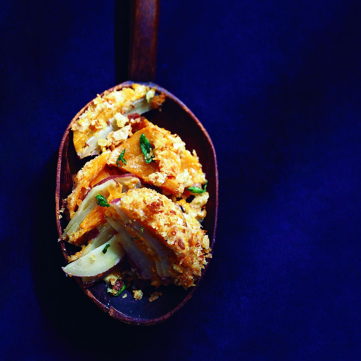 Two-Potato-and-Mascarpone Gratin