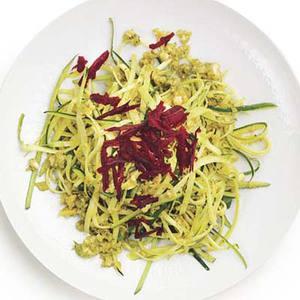 Zucchini Linguine with Curried Cashew Pesto
