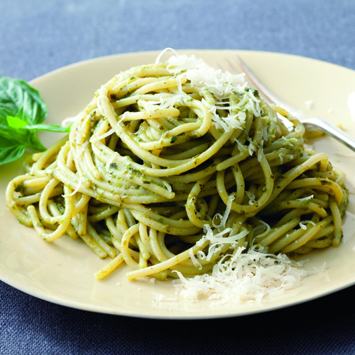 Basil-Infused Pasta