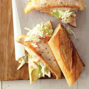 Catfish Sandwiches with Sweet Potato Fries