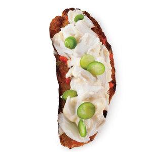 Creamy Crab Bruschetta