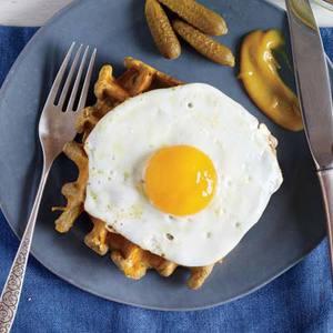 Croque Madame Waffles