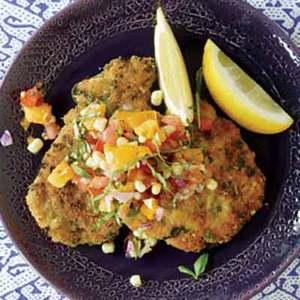 End-of-Summer Pork, Chicken or Veal Milanese
