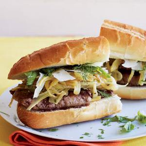 Johnnie C's Sweet Italian Sausage Subs with Fennel and Onions