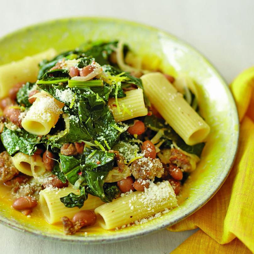 kale and sausage ragu
