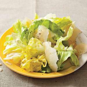 Lemony Lettuce with Shaved Parmesan