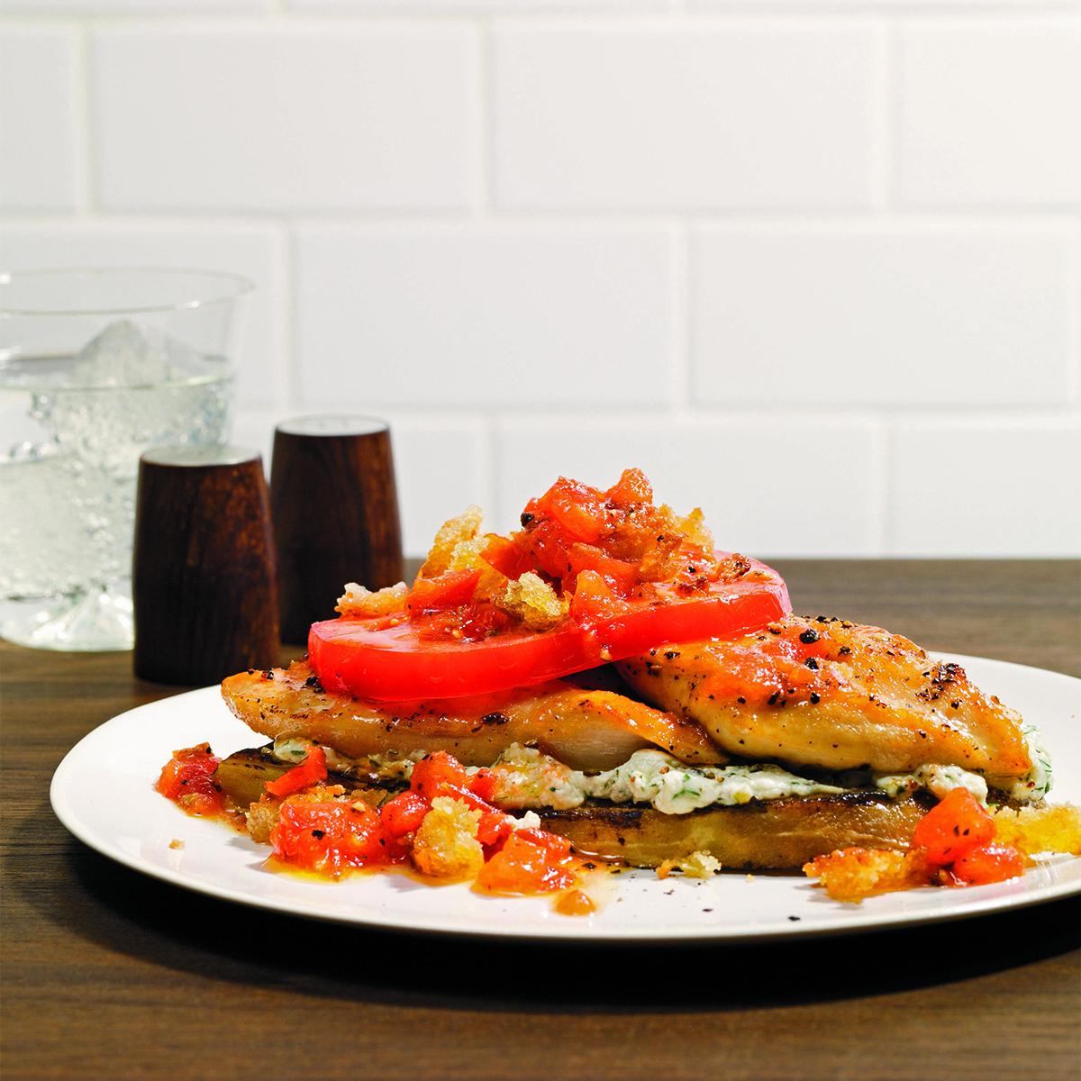 mediterranean chicken stacks