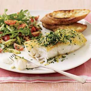 Parsley-and-Lemon Cod with Zucchini Salad