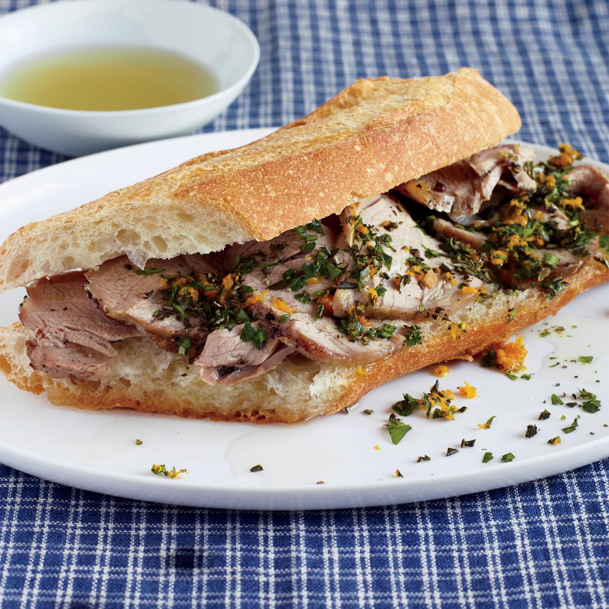 pork tenderloin french dips