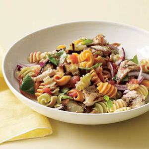Radiatore with Grilled Chicken and Eggplant
