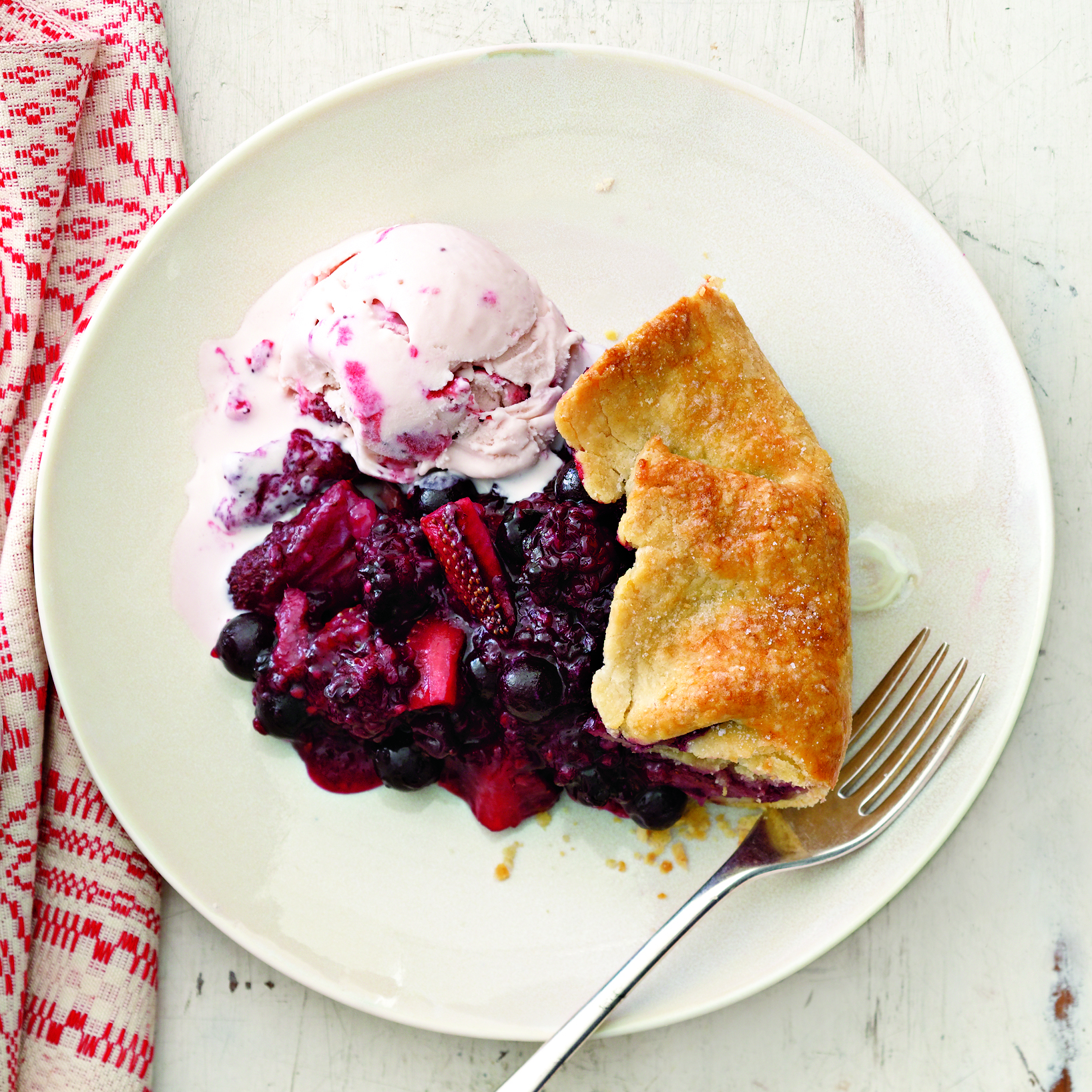Rustic Tri-Berry Pie