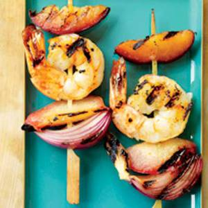 Shrimp-and-Pluot Kebabs