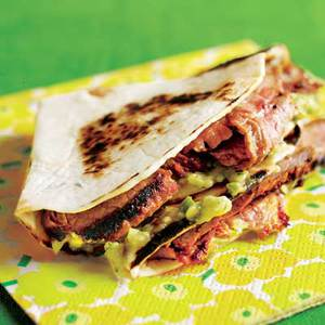 Sliced Steak Soft Taco Sliders with Guaca-Salsa