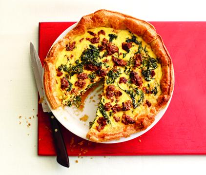 spinach-and-ricotta quiche