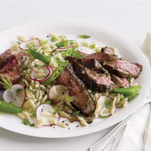 Spring Herbed Lamb with Lemon Orzo