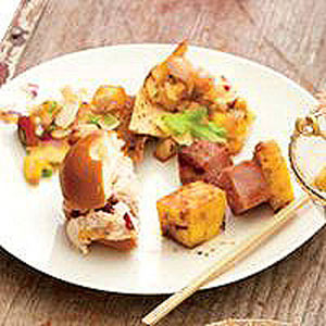 Tropical Ham-and-Pineapple Kebabs