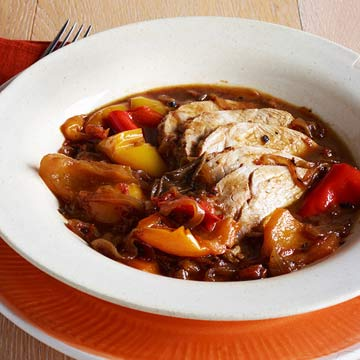 Pot-Roasted Pork with Sweet Peppers