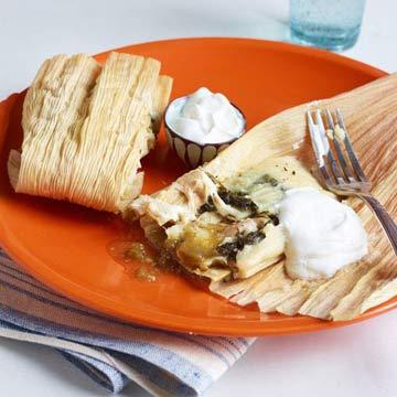 Cheesy Chicken Tamales