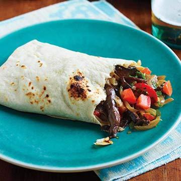 Meat-Free Fajitos (Fajita-Style Burritos)