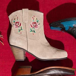 Flower-Femme boots