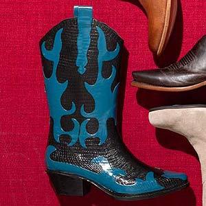 Western rain boots