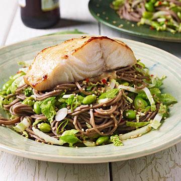 Soba Salad & Teriyaki Black Cod