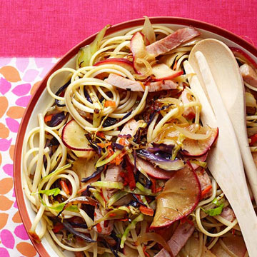 Ham, Apple & Cabbage Linguine