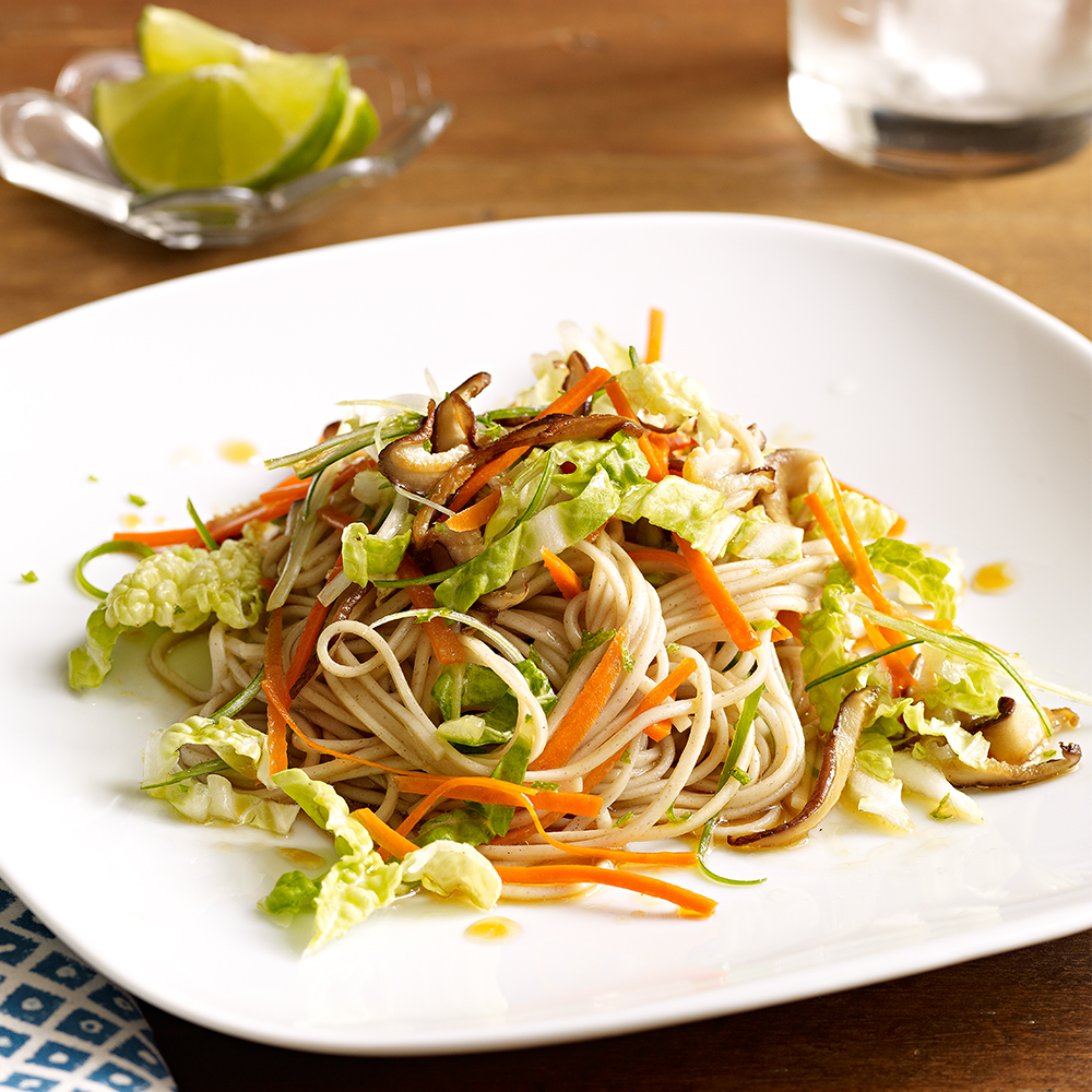 soba noodles with sesame-lime dressing