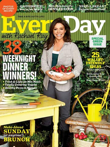 Every Day with Rachael Ray April 2012 Cover