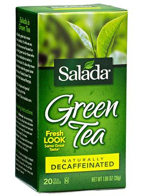 Salada Naturally Decaffeinated 100% Green Tea