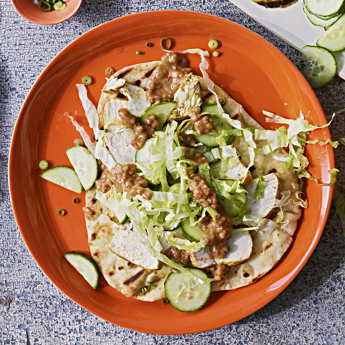 Chicken Satay Naan