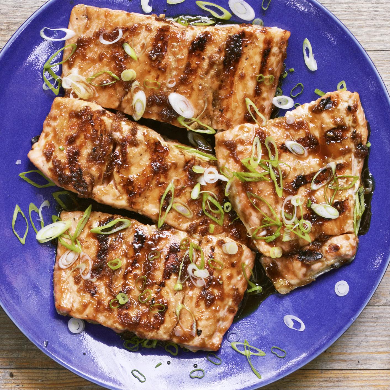 Grilled Teriyaki-Glazed Salmon