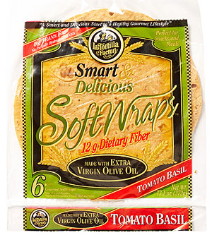 La Tortilla Factory Smart & Delicious Tomato Basil Soft Wraps