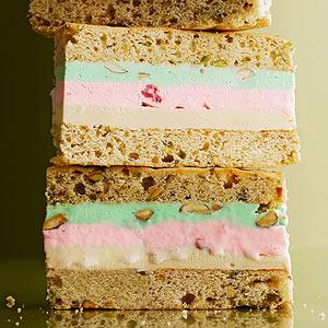 Pistachio Neapolitan Cakewiches