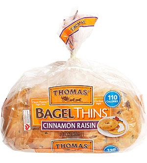 Thomas' Cinnamon Raisin Bagel Thins