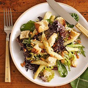 White Asparagus Bread Salad