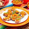Orange Bell pepper & basil bruschetta