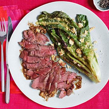 Petit Filet with Grilled Caesar Salad
