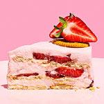 Strawberry Marshmallow & Cracker Cake