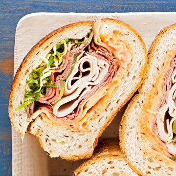 Super-Stuffed Deli Sandwich