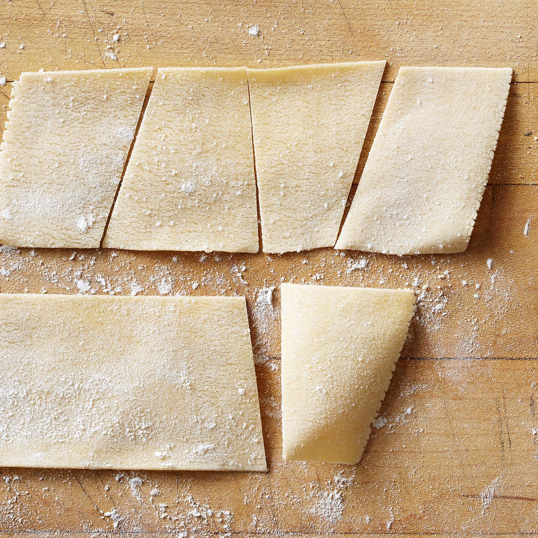homemade maltagliati pasta